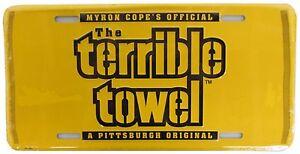 Pittsburgh Steelers Gold Terrible Towel Metal License Plate | eBay