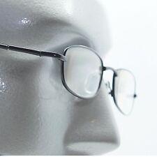 Small Narrow Lens Reading Glasses Black Wire Metal Frame Springe Hinge +1.50