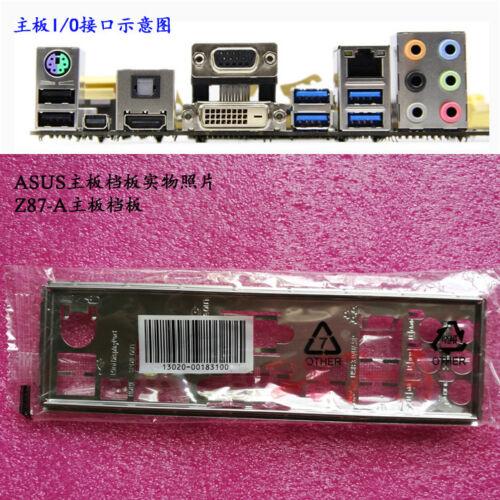 New Original IO I//O Shield Back Plate BackPlate Blende Bracket for ASUS Z87-A RE