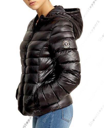 Donna donna da 12 Parka Taglia 14 donna imbottito trapuntato da 16 8 Cappotto Piumino nero 10 wxvvEXq8