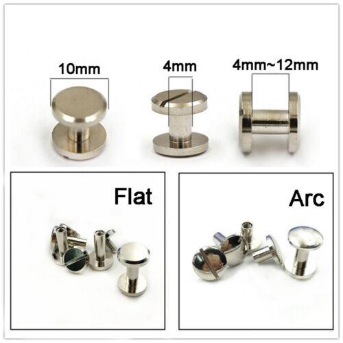 10mm Brass Nickel Plated Screw Chicago Stud Rivet Leathercraft Binding 4mm~12mm