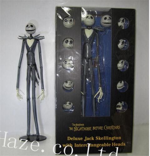 La pesadilla antes de Navidad Jack Skellington Figura 12 Juguetes de Skull Heads