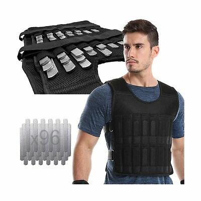 96/×Lead Block) LEK/ÄRO Weight Vest Adjustable Weighted Vest 44LB Fitness Weight Training Workout Boxing Jacket(Containing Weight