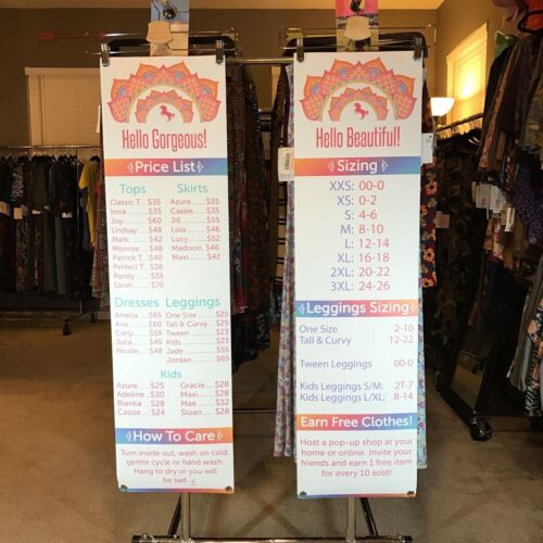 LLR Size Chart And Price List Banners Womens Apparel lularoe lula roeing unicorn