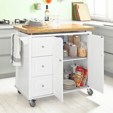 So Kitchen Storage Cabinet Serving Trolley Cart With White