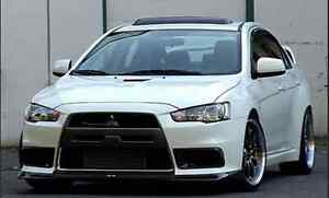 image is loading carbon ralliart front lip for 08 12 mitsubishi