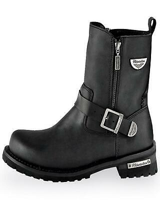 Milwaukee Motorcycle Clothing Company Mens Road Captain Motorcycle Boots Size 8.5D