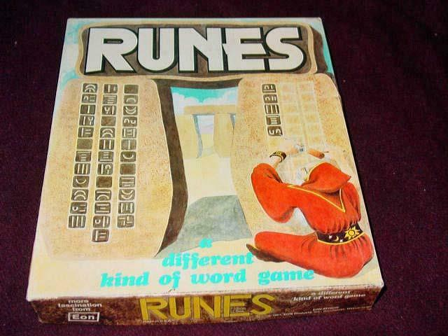 Eon Products 1981 - RUNES - A Different Kind of Word Game (Very Good Condition)