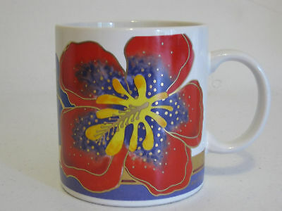Laurel Burch Wild Hibiscus Coffee Mug Cup