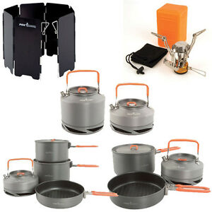New-Fox-Cookware-Set-Pans-Canister-Stove-Windshield-Kettle-Complete-Range