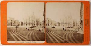 Milan-Duomo-Italia-Foto-Brogi-Stereo-PL46Th2n-Vintage-Albumina-c1875