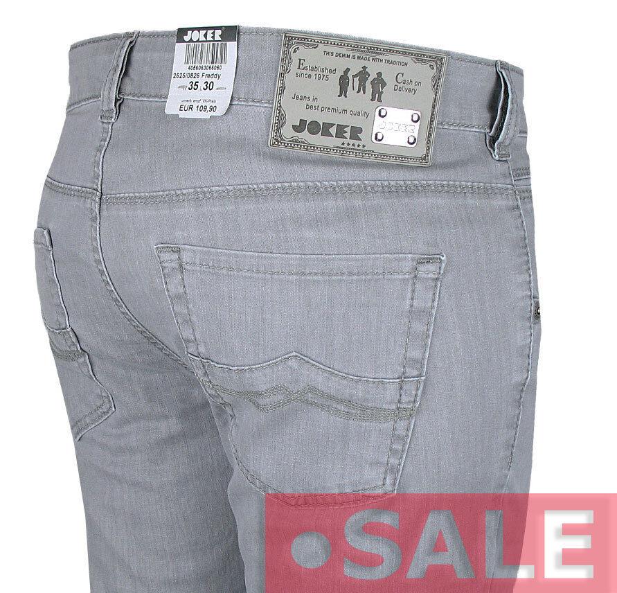 JOKER Herren Sommer-Jeans   Frotdy ( Straight Fit ) grau LIGHT DENIM  | Lebendige Form  | Louis, ausführlich  | Produktqualität