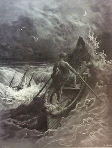 Gustave-Dore-Anciens-Marins-1876-XIX-eme-Marine-Marin-Naufrage-le-pilote