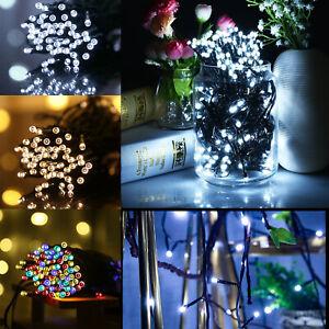 UK-50-LED-Solar-Power-Fairy-Lights-String-Garden-Outdoor-Party-Wedding-Xmas-Lamp