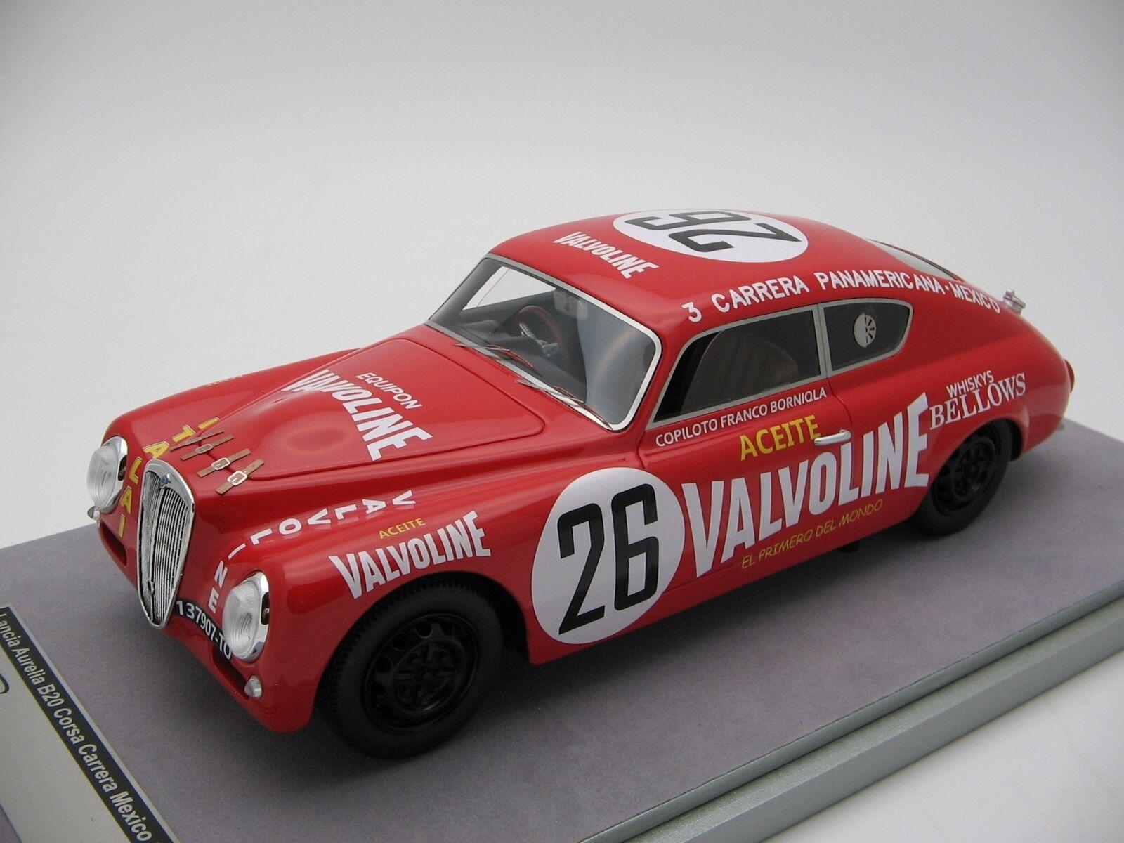 1 18 Scale Tecnomodel Lancia Aurelia b20 corsa Carrera Mexico 1952 tm18-69a