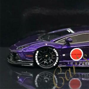 1-64-LB-WORKS-Lamborghini-AVENTADOR-1-0-zero-fighter-purple-model-Resin-model