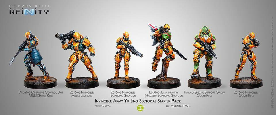 Infinity Invincible Army Yu Jing Jing Jing Sectorial miniatures without box 269c03