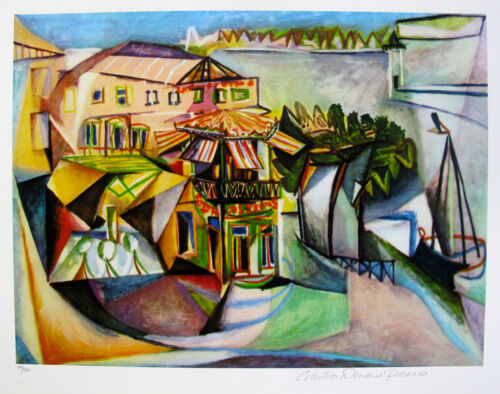 """Pablo Picasso /""""CAFE ROYAN/"""" Estate Signed Limited Editon Art Giclee"""