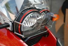 BMW R1200GS/ADV 2005/12 Headlight Protector Guards Clear Lens plus Black Grid