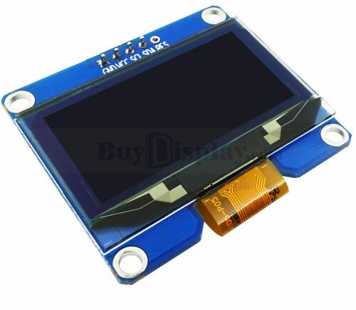 "Arduino-compatible White 1.5/"" OLED LCD Display 12864 IIC SPI Screen Module"