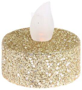 Set-Of-12-Gold-Glitter-Led-Tea-Light-Candles-Batteries-Included
