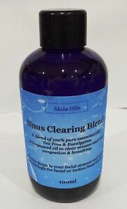 Details about Sinus Clearing Inhalation Massage Oil Blend 100ml Eucalyptus  Tea Tree Niaouli