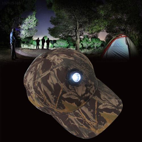 3E15 Nacht Angeln Cap Scheinwerfer Hüte LED Camouflage Baumwolle Camping