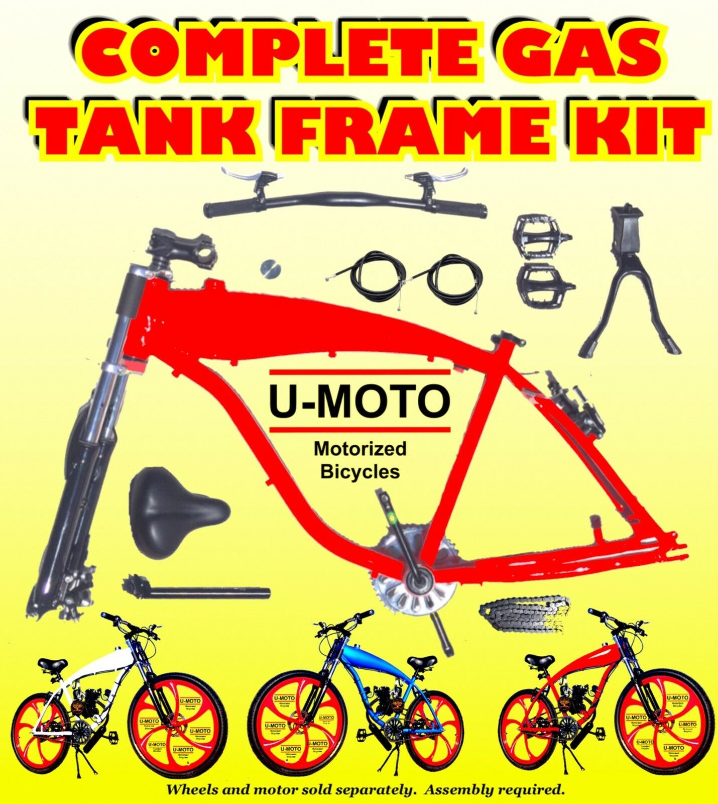 48cc 66cc 80cc 2-stroke motorized bike Frame Kit For Motorized Bikes
