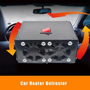 500W-12V-Camion-auto-Riscaldatore-ventilatore-SBRINATORE-Parabrezza-riscaldante