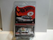 Hot Wheels Red Line Club White Ghostbusters Ecto-1