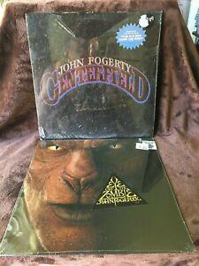 JOHN FOGERTY VINYL centerfield LP & eye of the zombie LP CREEDENCE 2fer SEALED