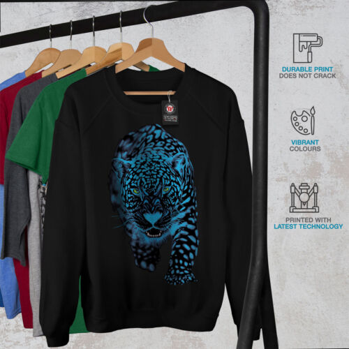 Wellcoda Panther Animal Sneak Womens Sweatshirt Cougar Casual Pullover Jumper