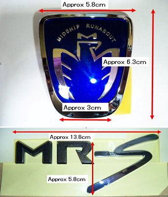 GENUINE JDM 98-08 TOYOTA MRS REAR CHROME PLATED EMBLEM MR2 SPIDER OEM BUY