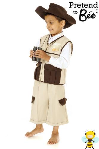 CHILDRENS KIDS BOYS SAFARI RANGER HUNTER JUNGLE EXPLORER COSTUME OUTFIT AGE 3-7