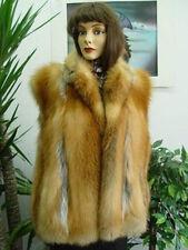 ~BRAND NEW NATURAL PLAIN CANADIAN RED FOX FUR VEST JACKET COAT WOMEN WOMAN SZALL