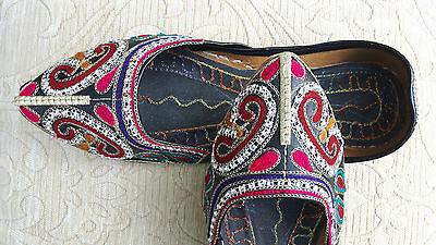 Señoras Negro Indio Boda Fiesta Khussa tamaño del zapato 5