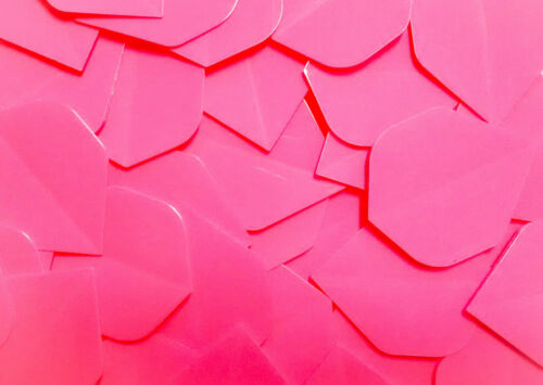 10 Sets Pink Dart Flights Standard shape Extra Strong 100 Micron thickness