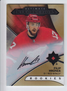 2018-19-UD-ULTIMATE-FILIP-HRONEK-AUTO-RC-INTRODUCTIONS-AUTOGRAPH-ROOKIE-Wings