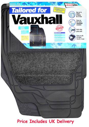 Streetwize Heavy Duty Premium Tailored Carpet Rubber Car Floor Mats VAUXHALL