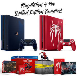 Details about PlayStation 4 PS4 Pro Limited Editions 2TB 500 Million  Edition Spiderman Bundles