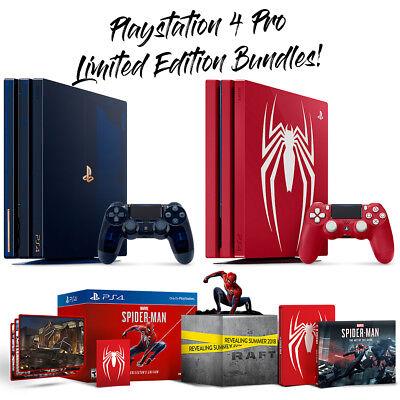 PlayStation 4 PS4 Pro Limited Editions 2TB 500 Million Edition Spiderman  Bundles | eBay