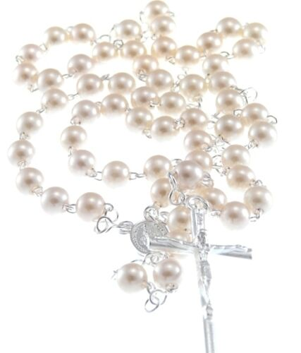 Cream Faux Pearl 6mm Rosary Beads