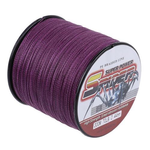 Violet 300M//1000M//500M//100M Dyneema Tressé Pêche Ligne 2.7kg-136kg