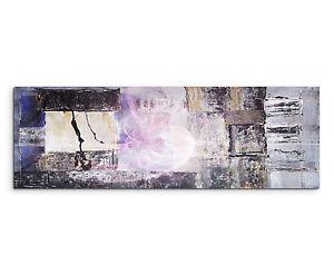 150x50cm Panoramabild Paul Sinus Art Abstrakt schwarz grau lila ...