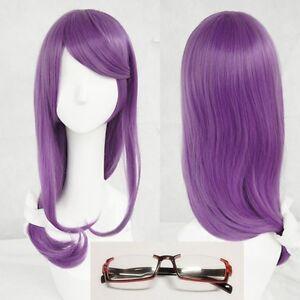 Anime-Tokyo-Ghoul-Rize-Kamishiro-60cm-Long-Purple-Cosplay-Hair-Wig-Glasses
