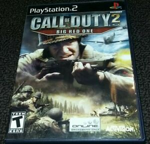 Call-of-Duty-2-Big-Red-One-Playstation-2-PS2-Game-Complete