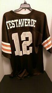 Details about Vintage Vinny Testaverde Cleveland browns Jersey #12 Logo Athletic L 46-48 large