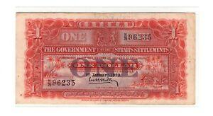 BANK-OF-STRAITS-SETTEMENTS-1-DOLLAR-1930-VF