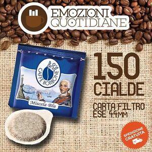 150 Cialde Caffè Borbone Miscela Qualita' Blu Compatibile Bialetti Mokona Cf40 Non Repassant