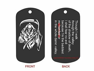 laser engraved dog tag custom military id key ring baddest mother